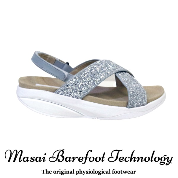 【限定商品】Masai Barefoot Technology MBTJP CROSS STRAP レディース SILVER
